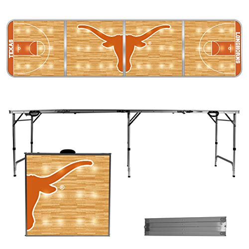 Victory Tailgate Texas Longhorns 8 Foot Portable Folding Tailgate Table Basketball Court Version