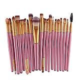Canjerusof Pro Lana Compone El Cepillo Set 20 Piezas Pincel De Maquillaje Herramientas De Maquillaje Toiletry Kit (Oro 2)