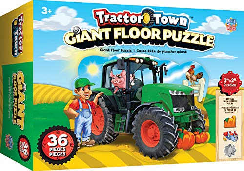 MasterPieces Tractor Town - 36 Pc Shaped Floor Puzzle, Assorted, Model:11937