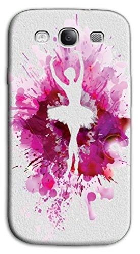 Mixroom - Cover Custodia Case in TPU Silicone Morbida per Samsung Galaxy S3 Neo i9301 i9300 Z422 Ballerina Schizzi Fucsia