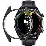 HUAWEI Watch GT 46mm / Watch GT2 46mm ケース【ELMK】全面保護 耐衝撃 柔らかい TPU ウオッチ保護ケース超薄型カバー Watch GT 46mm / Watch GT 2 46mm 対応(ブラック)