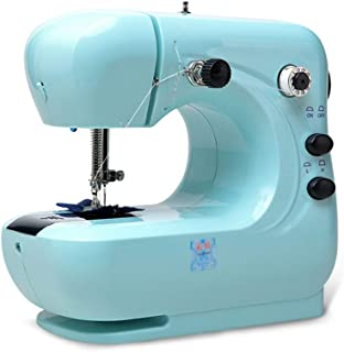 Mini Sewing Machine, Beginners Sewing Machine Embroidery Machine Small Household Sewing Tool, with Lamp, Double Speed Doub...