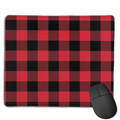 Mousepad Rot Schwarz Holzfäller Buffalo Plaid Nahtloses, weiches Tuch Gaming Mouse Pad mit glatter, rutschfester Basis