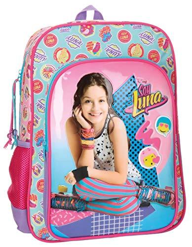 51Yi 0tWWsL - Disney 3462351 Soy Luna Mochila Escolar, 40 cm, 15.6 litros, Multicolor