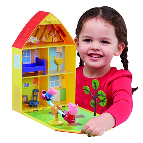 """Peppa Pig 06156 - Maletín de juego""""Casa y jardín de Peppa"""""""