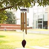 Windspiel für draußen, 76,2 cm Gedenk-Windspiel mit 6 dicken Aluminium-Röhren, einzigartige erstaunliche Grace Chimes Glocke für Garten Terrasse Garten Garten Garten Garten Garten Garten...