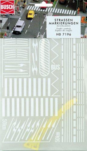 Busch H0 Strassenmarkierung