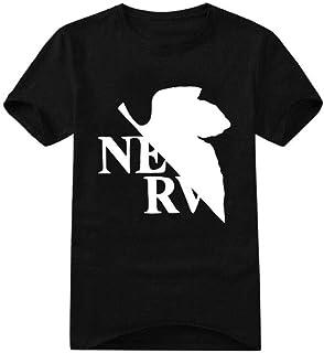 Tシャツ・カットソーメンズコットンアニメTシャツプリントEVAニューセンチュリーエヴァンゲリオン半袖快適で ラウンドネックスポーツTシャツ