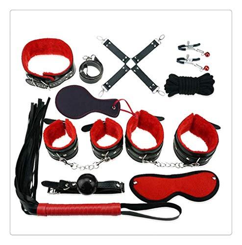 Z-one 1 set di 12 set manette chiave polizia forniture per feste cosplay accessori costume cosplay (nero e rosso)