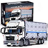 DAN DISCOUNTS Bloques de construcción para coche para Wing Body Truck, 4166 bloques de construcción 2,4 G 4 CH modelo de camión con motores, bloques de construcción compatibles con Lego