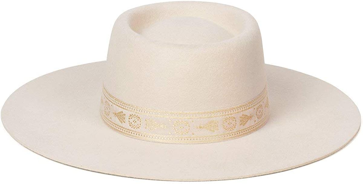 Chicago Mall Lack of Color Women's Juno Boater Wool Brocade with Cheap sale Hat T Ribbon