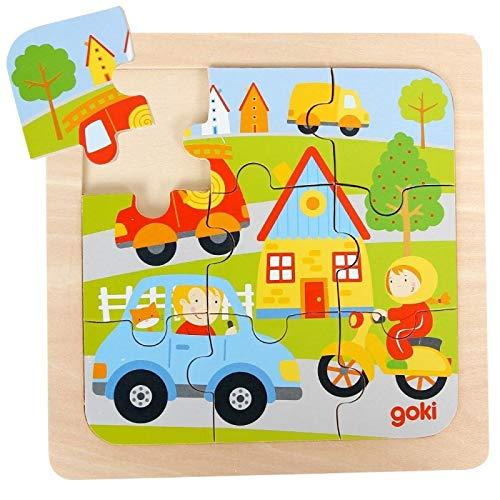 Puzzle en bois Les Véhicules Transports 9 pièces Puzzle premier âge Jeu d'éveil Enfant 2 ans