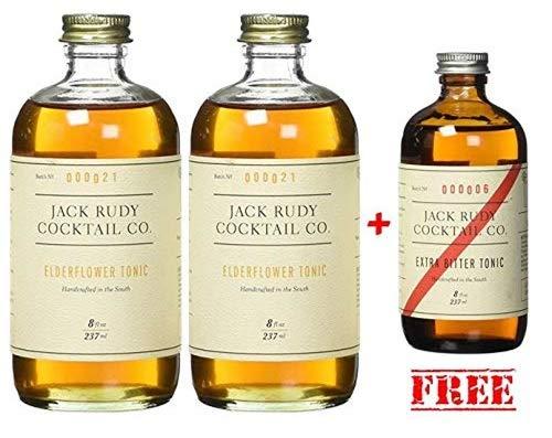 Jack Rudy Elderflower Tonic Sirup - (474ml für bis zu 25 Gin&Tonic) …