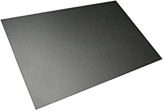 SOOKi 250x400mm Carbon Fiber Sheet 3K Twill Glossy Surface for Rc Airplanes DIY Drone Sheet Fabrics Fibres,250mm400mm,2.5mm