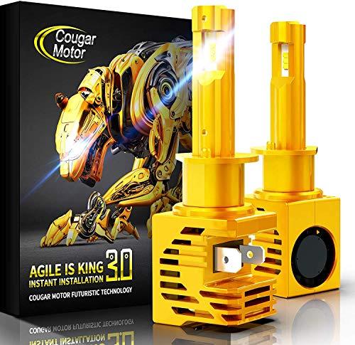 Cougar Motor LED Headlight Bulbs Conversion Kit - 880 881 (893, 899) -10000Lm 6000K Cool White CREE