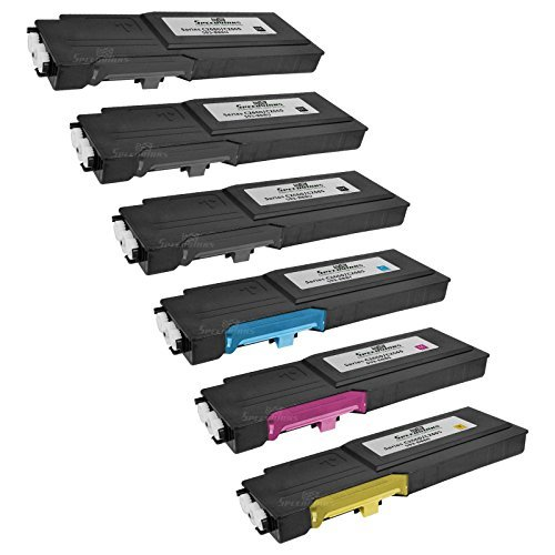 Speedy Inks Compatible Toner Cartridge Replacement for Dell C2660 C2660dn High Yield (3 Black, 1 Cyan, 1 Magenta, 1 Yellow, 6-Pack)