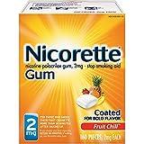 Nicorette Nicotine Gum Stop Smoking Aid 160 count.