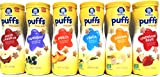 Gerber Graduates Puffs Cereal Snack, Variety Pack, Naturally Flavored with Other Natural Flavors, 1.48 Ounce, 6 Count, ALL FLAVORS
