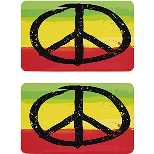 Vnurnrn Señal de arco iris de la paz para lavaplatos, imán para nevera, placa magnética, placa decorativa para cocina, oficina, lavadora, indicador de 2 piezas