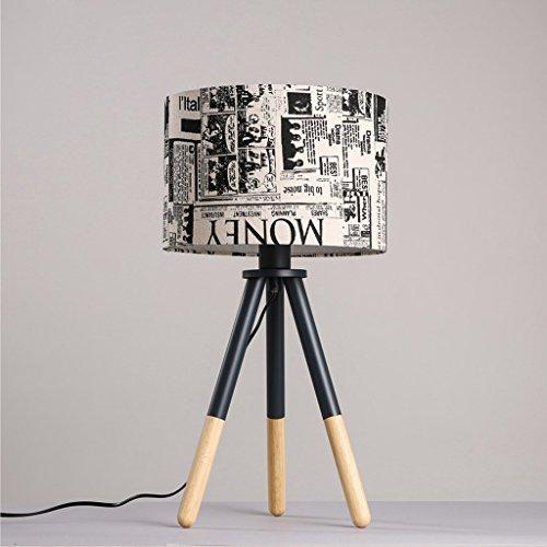CKH tafellamp Graffiti Cloth nachtlampje ingang eenvoudige bureaulamp studiolamp plug schakelaar lamp van massief hout statief