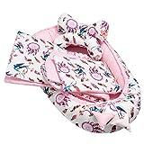 Solvera_Ltd 5 piezas 100 % algodón nido bebé 90 x 50 pieza extraíble cama nido cama nido manta para bebé (atrapasueños rosa)