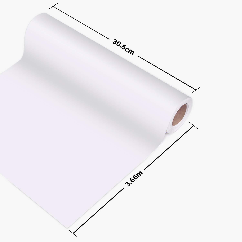 Doctora lámina textil, 30,5 cm × 3,66 m, lámina flexible para Cricut y Silhouette Cameo, utilizada en ropa de camisetas y otros materiales (blanco): Amazon.es: Industria, empresas y ciencia