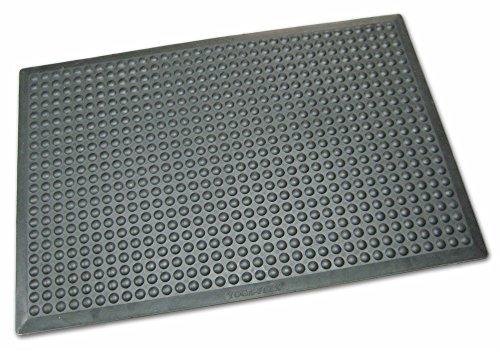 Ergonomische & ölbeständige Arbeitsplatzmatte, ca. 80 x 525 cm (Modulsystem), Schwarz, Gummimatte mit Noppen, 14 mm, aus Nitrilkautschuk, 7 Größen wählbar