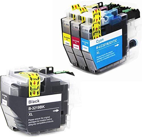 LEMERO 4 Druckerpatronen Kompatibel für Brother LC-3219 XL für Brother MFC-J5330DW MFC-J5335DW MFC-J5730DW MFC-J6930DW MFC-J6530DW MFC-J6935DW MFC-J5930DW