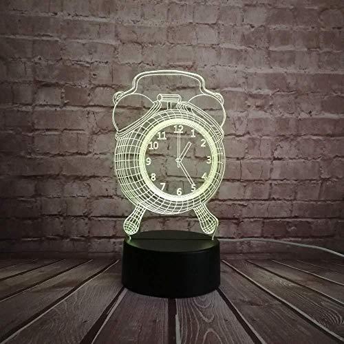 Bürotisch Zubehör 3D-Lampe Nachtlicht Retro Fasion Wecker Stil Spielzeug Dekorative 3D-Usb-Lampe Mehrfarbige Rgb-Led-Lampe Schreibtisch Nachttisch Home Neuartiges Design Mit