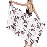Lfff Hello Kitty Soft Absorbente Ligero para baño Piscina Yoga Pilates Manta de Picnic Toallas de Microfibra 80cm * 130cm