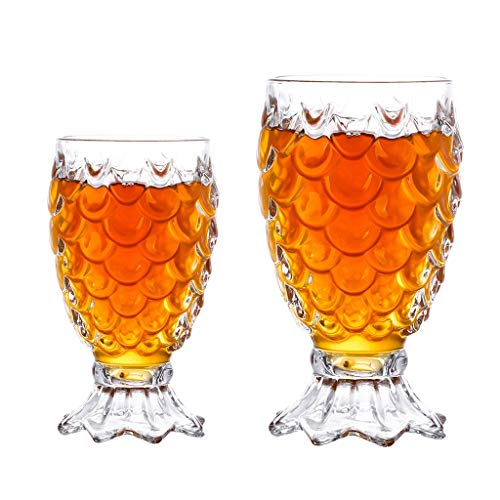 Beer Mug Premium Glass Drinking Cups Tall Clear Juice Glass for Bars Restaurants Parties (Color : Clear1+Clear2)