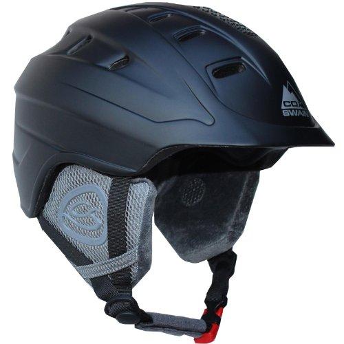 Cox Swain Ski-/Snowboard Helm ROYAL with Recco - mit Recco Lawinenreflektor, Farbe: Black, Größe: M