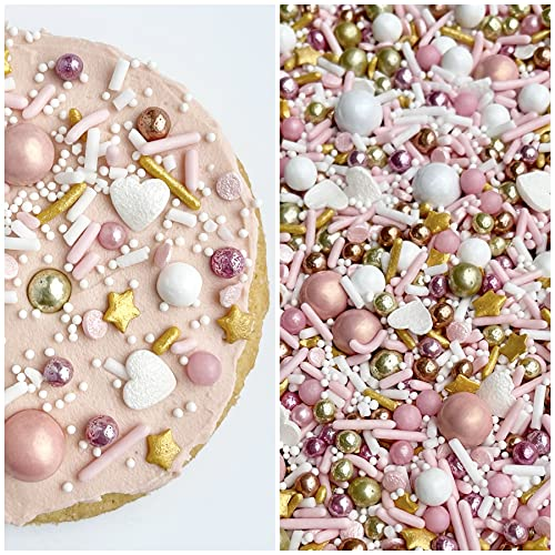 Manvscakes | Heart of rose and gold | Pink sprinkles | Valentines | Cookie sprinkles | Gold sprinkles | Cake sprinkles