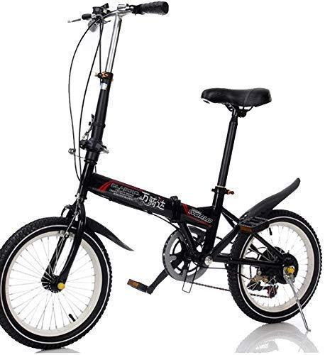 20-Zoll-Klapprad mit variabler Geschwindigkeit Klapprad Männer und Fahrrad Frauen tragbares ultraleichtes Klapprad 20-Zoll-Student Fahrrad Gelb (Farbe: weiß) HAOSHUAI (Color : Black)