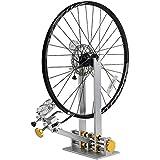 """Auoiuoy Rad Tuning Repair Tool Kit, Profi-Bike/Fahrrad-Reifen Zentrierständer, Plattform-Fahrrad-Aluminiumlegierung Mechaniker Reparieren Gestell, Geeignet für 10 """"- 29"""" Räder,Silver-10~29inch"""
