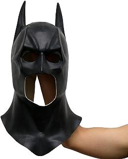 hcoser Adult's Batman Mask for Cospaly Fancy Dress Prop Latex Helmet