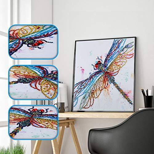 4 Packs,Vibola DIY Diamond Painting Art Kit Craft Supplies Mosaic Cross Stitch Kits for Adults Love Story Full Round Drill Jewel Rhinestone Embroidery Set