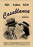 DUDUANLIAN Canvas Poster Casablanca Movie Poster Vintage