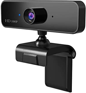 HD 1080P Webcam USB Built-in Microphone Video Call Computer Web Camera for Microsoft YouTube PC Laptop Black