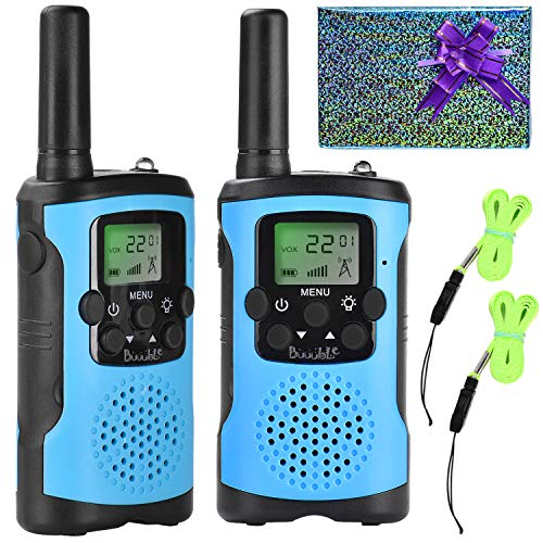 Walkie Talkies for Kids 22 Channel 3 Mile Long Range Many People Use It to Prevent Children's Myopia and Away from Electronic Games Best Birthday Gifts for 4-6 Year Old Boys Girls More Fun Game (Blue)