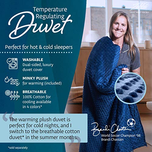 Quility Premium Adult Weighted Blanket & Removable Cover - 20 Pounds