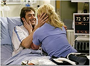 Grey's Anatomy Jeffrey Dean Morgan Grinning While Holding Katherine Heigl's Face 8 x 10 Photo