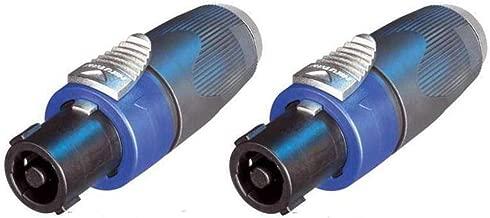 (2 Pack) Genuine Neutrik NA4LJX Speakon to 1/4 Jack Connector Adapter Converter ((2 Pack) Genuine Neutrik NA4LJX Speakon to 1/4 Jack Connector Adapter Converter)