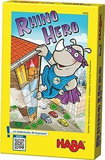 Haba 4092 - Rhino Hero, Spannendes 3-D-Stapelspiel für 2-5 Superhelden ab 5 Jahren, mit einfachen Regeln für schnellen Spielspaß, Aktionsspiel für die ganze Familie (B004MXRDRY) | Amazon price tracker / tracking, Amazon price history charts, Amazon price watches, Amazon price drop alerts