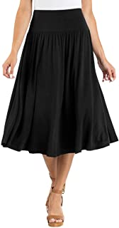Midi Length Skirt with Rounded Hem and Tummy Smoothing Features