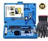 Kit de Reparación de Neumáticos, 69pcs Heavy Duty Auto Kit de Herramientas para Reparar Pinchazos en Neumaticos para Coche, Camión, Tractor, ATV, Motocicleta, Jeep