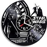 Retro fashion wall clock クリエイティブクロック、Hao Shuo New Fashion Clock Star Wars Kylo Ren Vinyl Wall Clock、スターウォーズStormtrooperギフト、大型デススター、ダースベーダー、スターウォーズ商品ギフト room kitchen bar universal clock