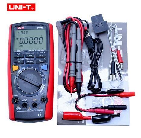 Digital Multímetro UNI-T ut71C AC DC voltios amperios Ohm Capacitancia medidor de temperatura +/-(0,025{044d812e2f15a26a709b35d48048a6bc9b6c02b6d4a63422088495d6c7c5431e} + 5) precisión con doble pantalla con retroiluminación