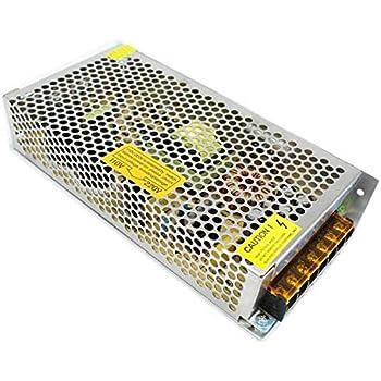 Transformateur universel d/'alimentation /à d/écoupage r/égul/é IP20 pour rampe lumineuse LED et syst/èmes de vid/éo-surveillance CA 5/V//12/V//24/V CCTV Dc 12V 1 30 Watt