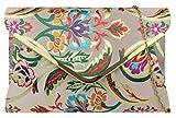 Barroco del bolso de embrague de la flor